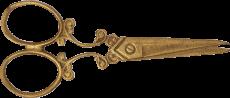 Scissors brooch