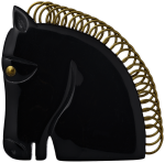 Black Horse Brooch