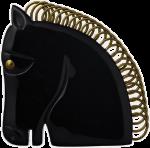 Black Horse Brooch