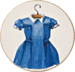 Dress on a hanger brooch